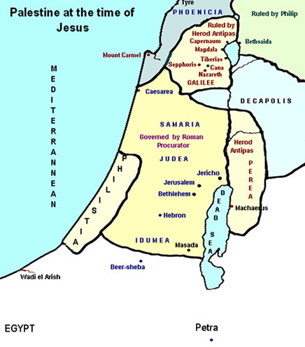 map of judea in jesus time