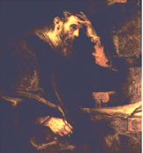 Apostle Paul is by Rembrandt