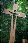 Cross in the garden of St Mary's Priory, Tallaght
